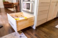 Doraville Kitchen peninsula with extension storage drawer