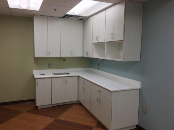 Kennestone Hospital break room cabinetry