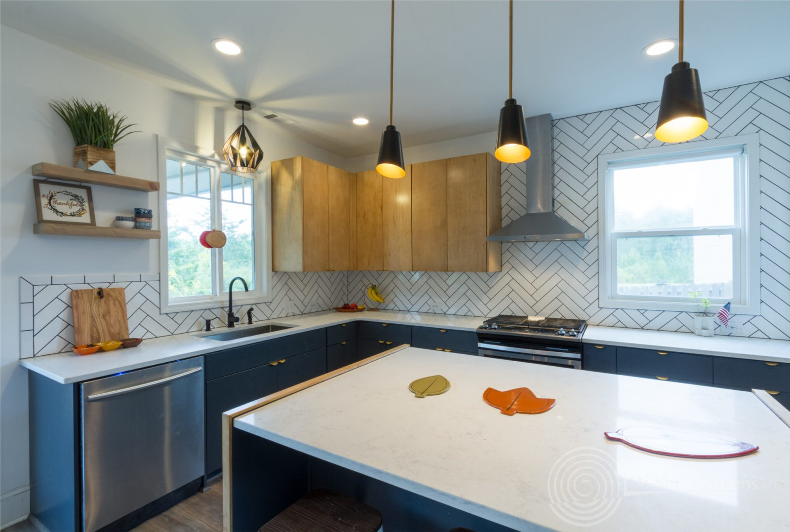 Modern Scandinavian Kitchen Remodel partial view
