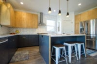 Modern Scandinavian Kitchen Remodel full view