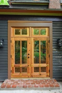 Double Door with custom trim in Atlanta, GA