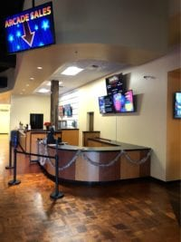 Arcade Sales area and cabinetry for Stars and Strikes