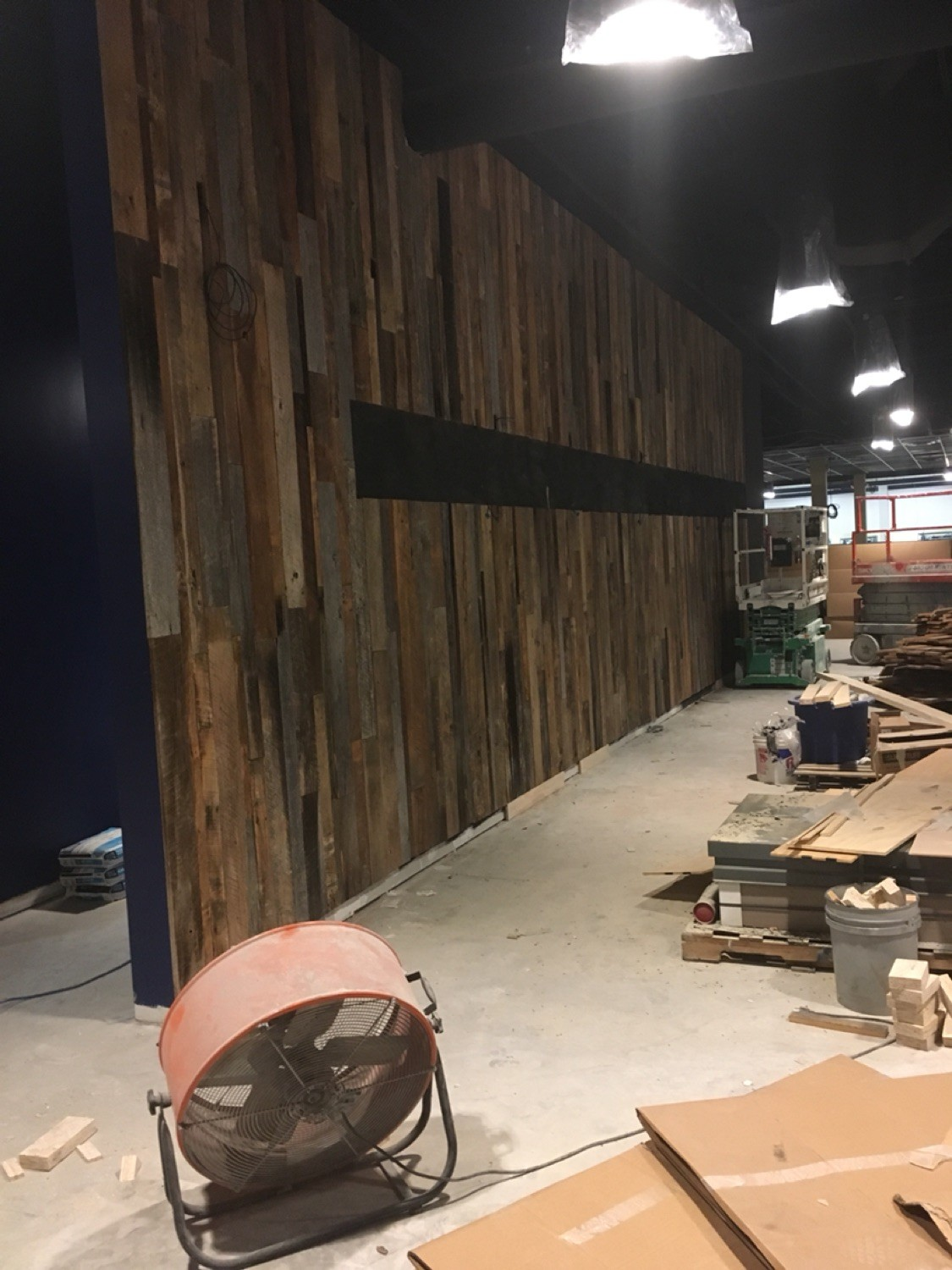 Custom Pallet wall for Stars and Strikes