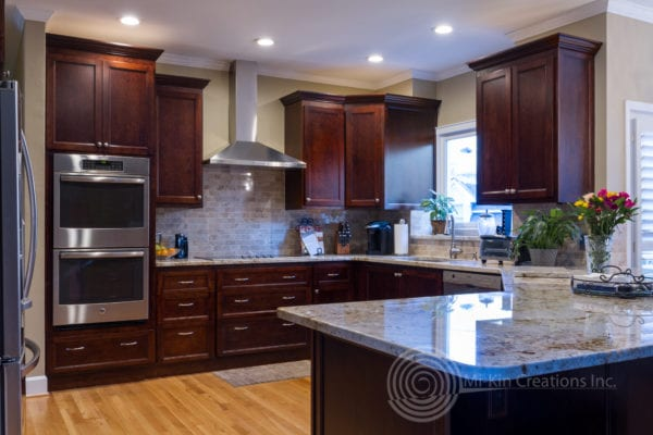Full view of custom traditional kitchen