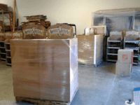Sweetwater retail display shipping on pallets