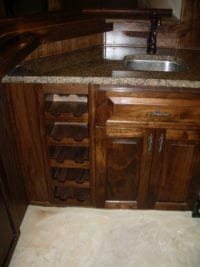 Pub style wine holder cabinets