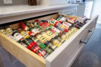 Custom spice drawer built for a kitchen in Milton, GA